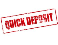 Quick deposit - stock illustration
