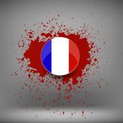 French Icon and Blood Splatter Piirros
