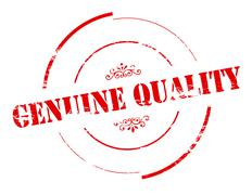 Genuine quality - stock illustration