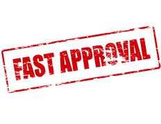 Fast approval Stock Illustration