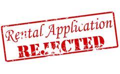 Rental application - stock illustration