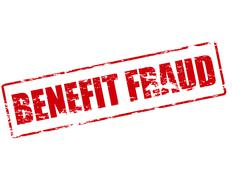 Benefit fraud - stock illustration