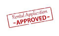 Rental application Stock Illustration