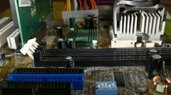 Motherboards - RAM installation Stock Footage