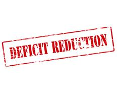Deficit reduction - stock illustration