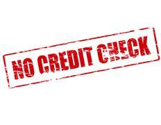No credit check - stock illustration