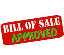 Bill of sale approved Stock Illustration