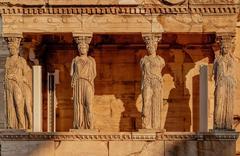 Caryatides Acropolis Of Athens - stock photo