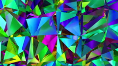 Diamonds Refraction Background Looped.  Stock Footage