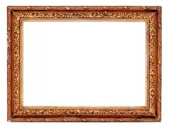 Antique Gold Picture Frame - stock photo