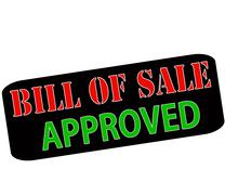 Stock Illustration of Bill of sale approved
