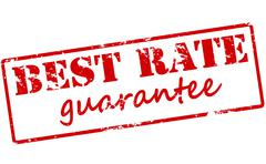 Best rate guarantee Stock Illustration