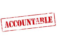 Accountable - stock illustration