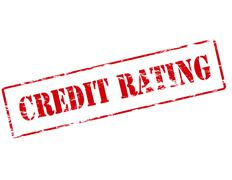 Credit rating - stock illustration