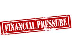 Financial pressure - stock illustration