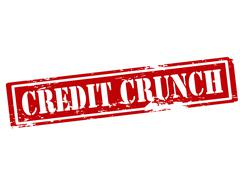 Credit crunch Stock Illustration