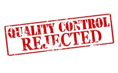 Quality control rejected - stock illustration
