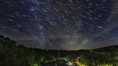 Milky Way Startrails Night Sky Timelapse Felsenkeller Brewery Dresden Germany Stock Footage