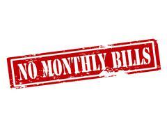 No monthly bills - stock illustration
