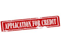 Stock Illustration of Application for credit