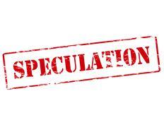 Speculation - stock illustration