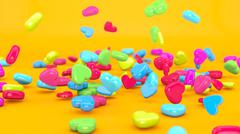 Love Candy Falling 3D Stock Illustration