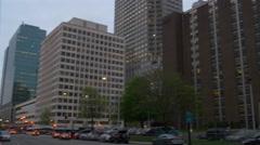 Stock Video Footage of jersey city twilight sunset traffic crossroad panorama 4k usa