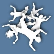 Falling children - stock illustration