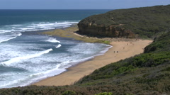 Australia Great Ocean Road Bells Beach Stock Footage