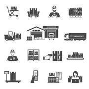 Storage Icons Set - stock illustration