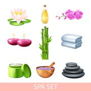 Spa And Wellness Set - stock illustration