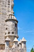 Cupola On Tower Of Belem - stock photo