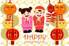 Stock Illustration of Chinese New Year Greeting Card