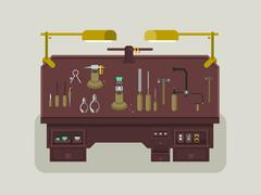 Jewelry repair shop - stock illustration