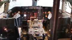 Inside aircraft in National Air and Space Museum in Washignton. Stock Footage