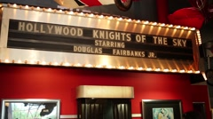 Signboard Hollywood knights of sky in National Air and Space Museum Stock Footage