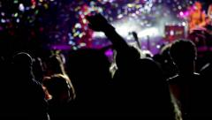 People dancing at live concert - stock footage