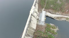 4k aerial hydro electric dam oabove view Stock Footage