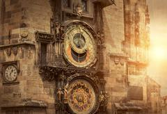 One of the famous popular travel place in world - Prague under s - stock photo