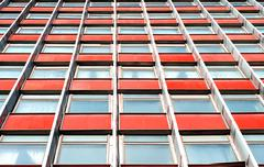Multistory office building with terracotta panels - stock photo