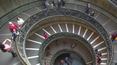 ULTRA HD 4K real time shot,The double spiral staircase,Vatican, Rome Stock Footage