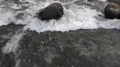 Flood rapids landscape - stock footage