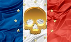 Terrorist attack Paris - stock illustration