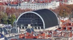 Opéra de Lyon Time Lapse Stock Footage