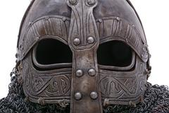 Viking helmet visor Stock Photos