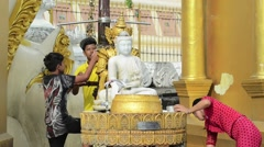 Schwedagon Pagoda, Yangon, Myanmar Stock Footage