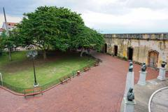Square in the historic district of Panama City - stock photo