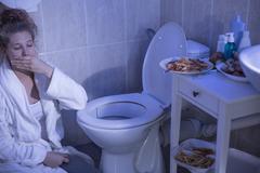 Bulimia nervosa vomiting Kuvituskuvat