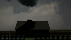 Violent Tornado Strikes House - stock footage
