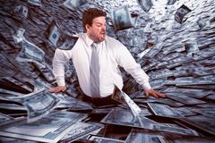 Black hole of money - stock photo